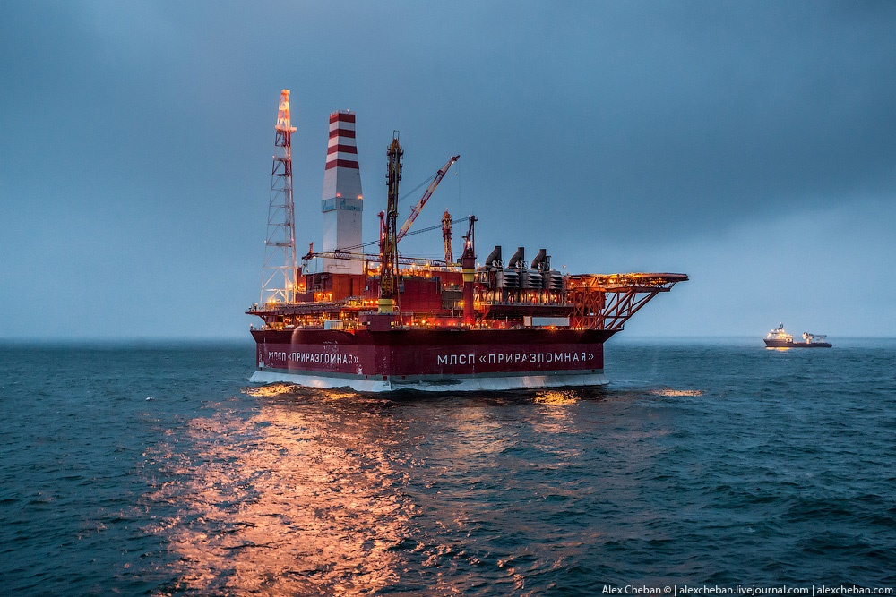 Russian ice-resistant oil platform Prirazlomnaya in the Arctic - 18