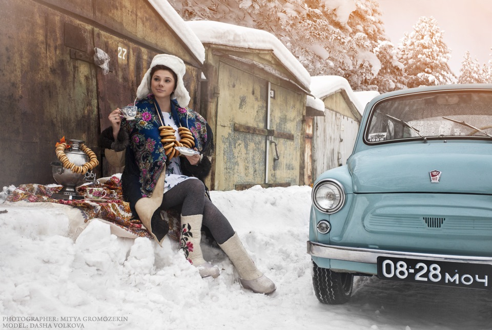Photo-shoots with Russian beauties and Soviet cars - 10