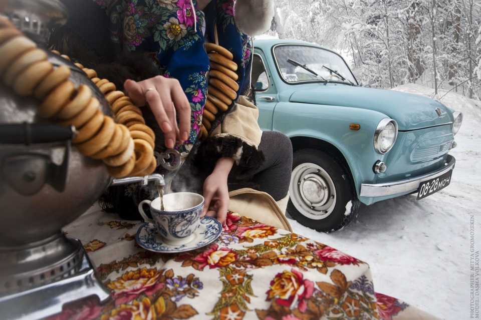 Photo-shoots with Russian beauties and Soviet cars - 11