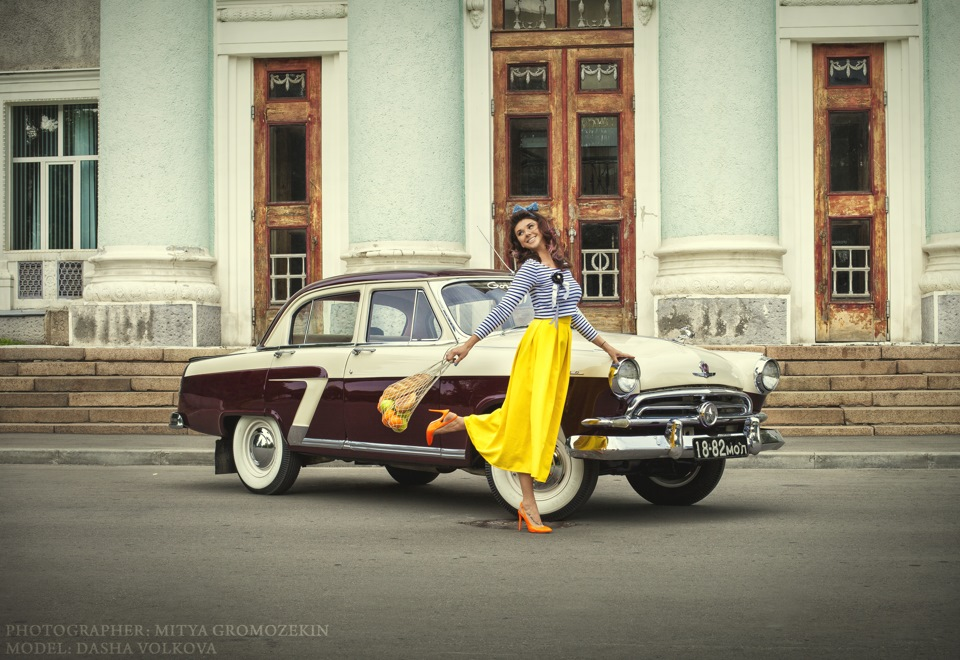 Photo-shoots with Russian beauties and Soviet cars - 13