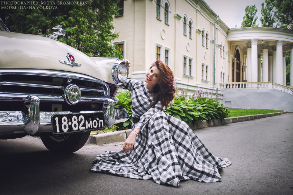Photo-shoots with Russian beauties and Soviet cars - 21