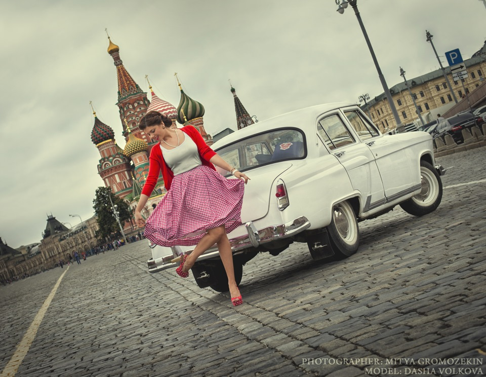 Photo-shoots with Russian beauties and Soviet cars - 27