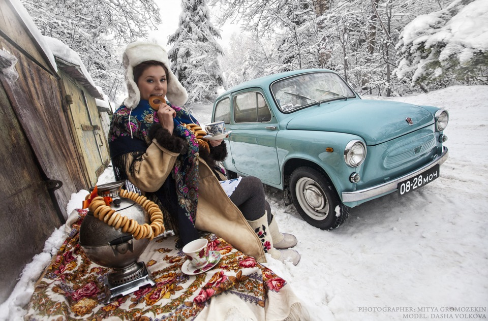 Photo-shoots with Russian beauties and Soviet cars - 9