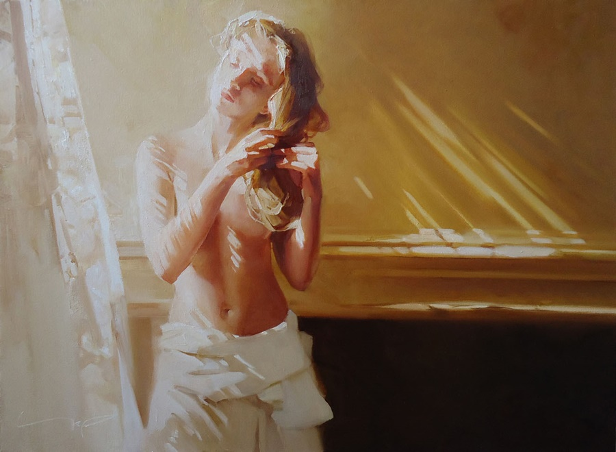 Good morning, beautiful woman: Paintings by Alexey Chernigin - 26