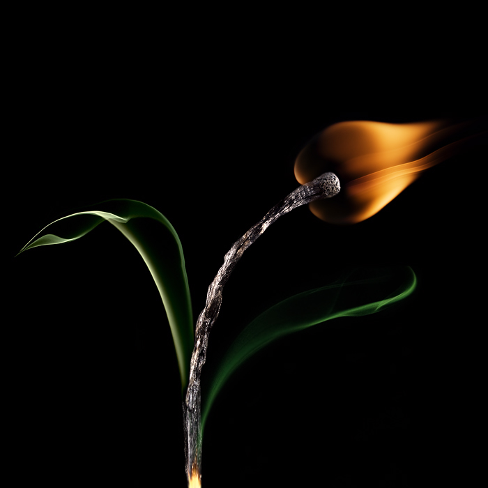 Playing with matches - artwork by Stanislav Aristov - Another Flower