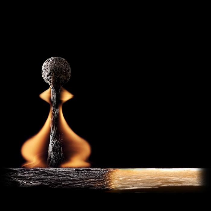 Playing with matches - artwork by Stanislav Aristov - Pawn