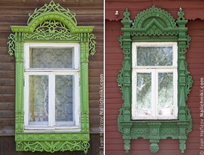 Traditional Russia: Fabulous hand-carved wooden window frames - 24