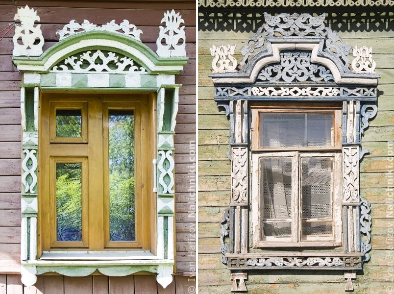 Traditional Russia: Fabulous hand-carved wooden window frames - 26