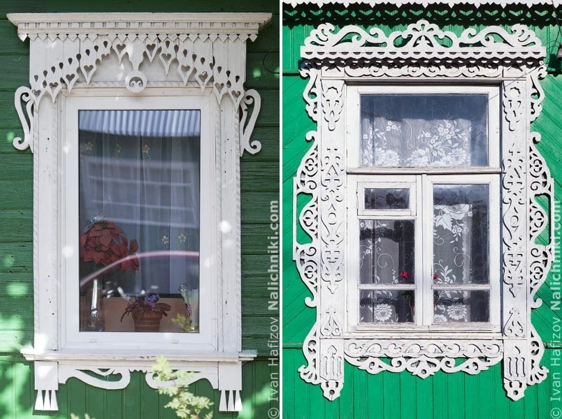 Traditional Russia: Fabulous hand-carved wooden window frames - 27