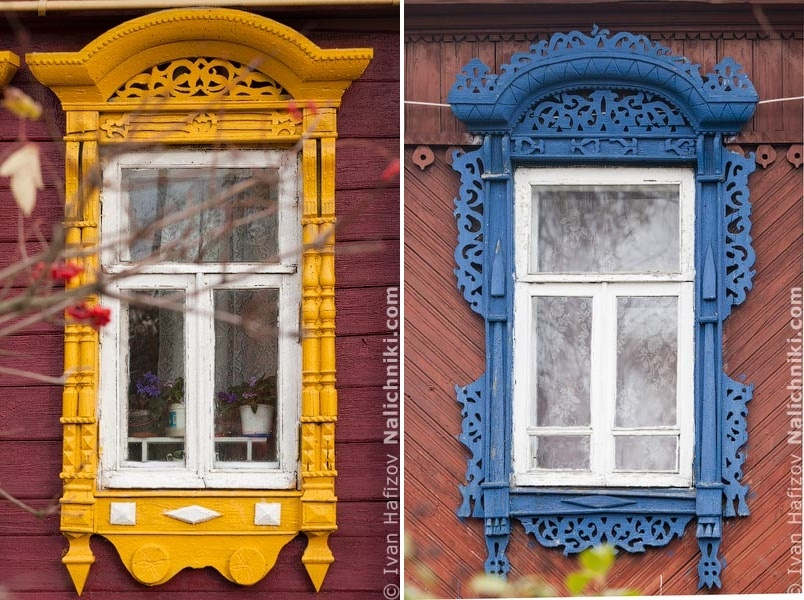 Traditional Russia: Fabulous hand-carved wooden window frames - 28