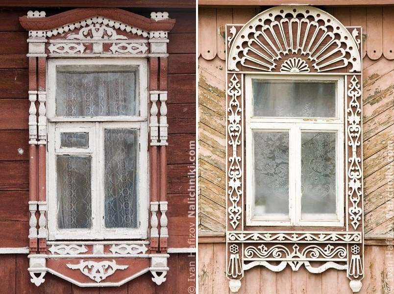Traditional Russia: Fabulous hand-carved wooden window frames - 30