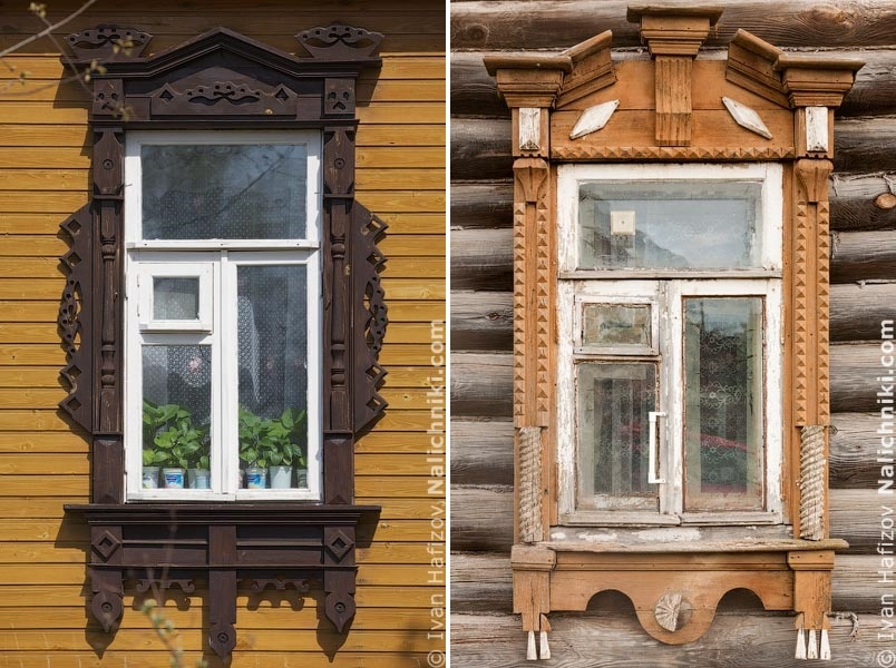 Traditional Russia: Fabulous hand-carved wooden window frames - 31