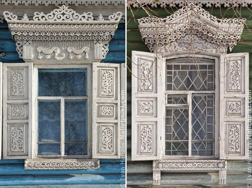 Traditional Russia: Fabulous hand-carved wooden window frames - 32