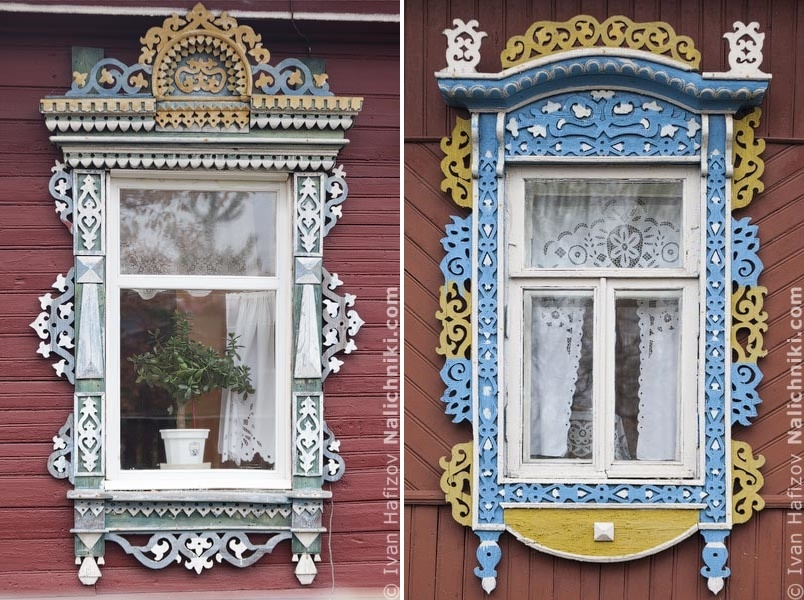 Traditional Russia: Fabulous hand-carved wooden window frames - 33