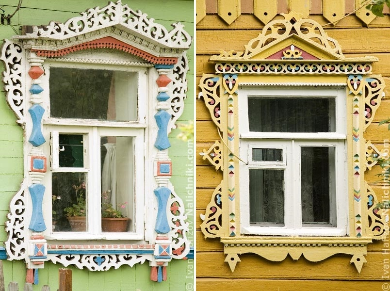 Traditional Russia: Fabulous hand-carved wooden window frames - 34