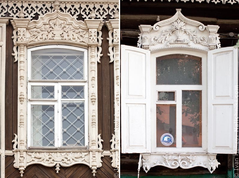 Traditional Russia: Fabulous hand-carved wooden window frames - 35