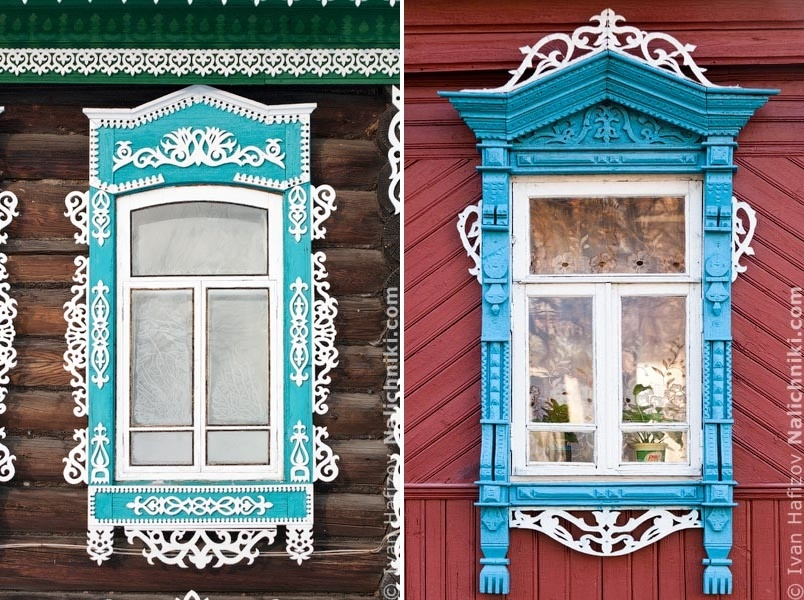 Traditional Russia: Fabulous hand-carved wooden window frames - 38