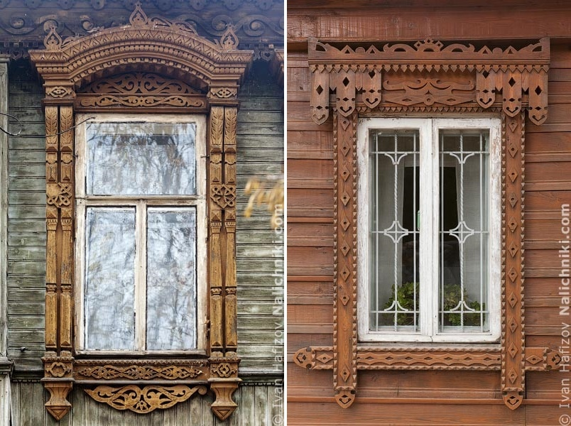 Traditional Russia: Fabulous hand-carved wooden window frames - 39