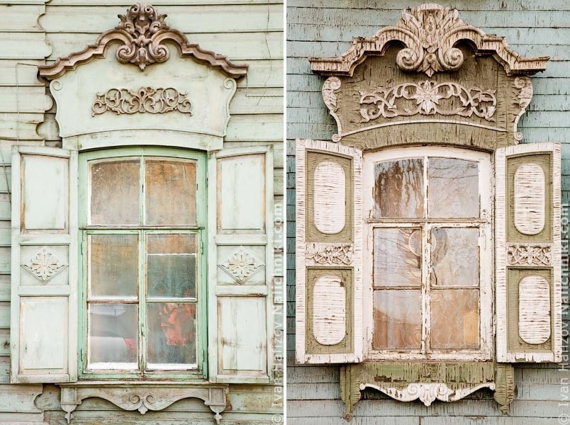 Traditional Russia: Fabulous hand-carved wooden window frames - 40