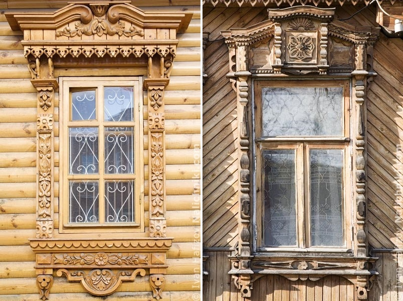 Traditional Russia: Fabulous hand-carved wooden window frames - 41