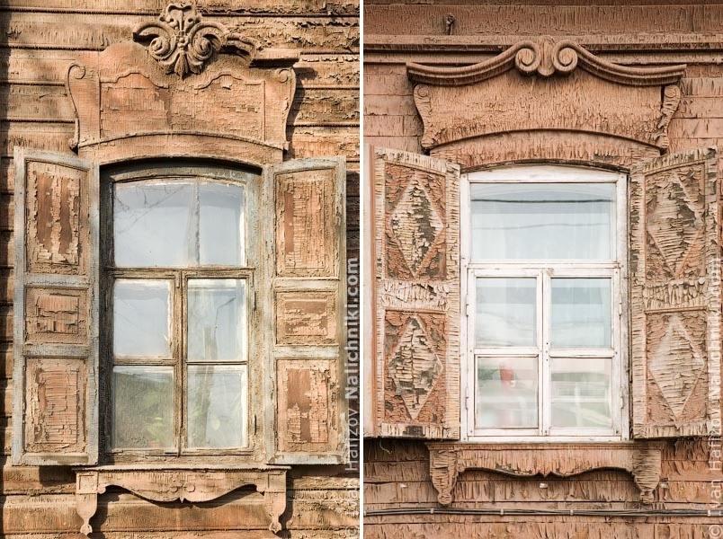 Traditional Russia: Fabulous hand-carved wooden window frames - 42