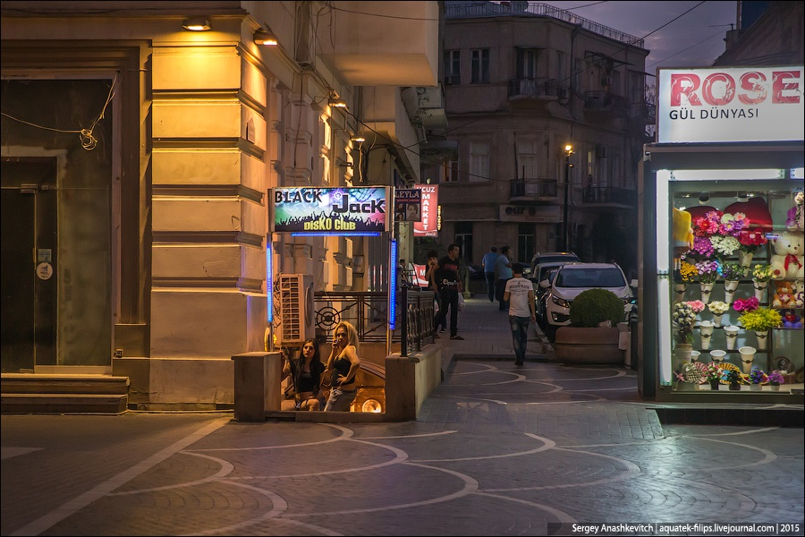 Azerbaijan: Brilliance and poverty on the streets of night Baku - 11