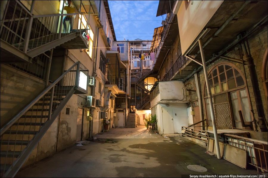 Azerbaijan: Brilliance and poverty on the streets of night Baku - 19
