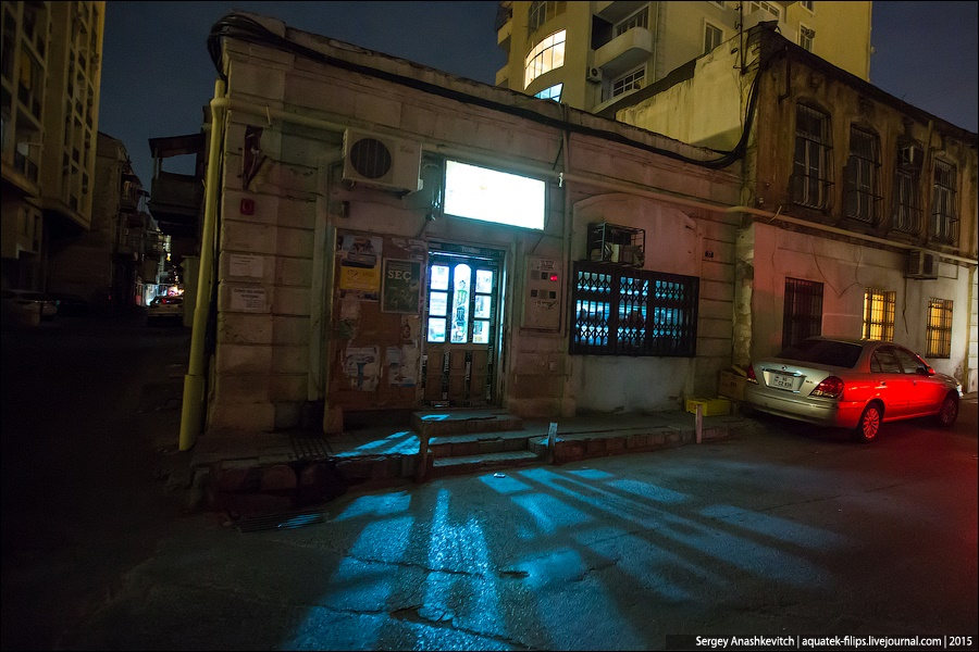 Azerbaijan: Brilliance and poverty on the streets of night Baku - 25