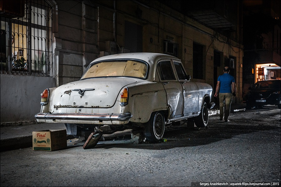 Azerbaijan: Brilliance and poverty on the streets of night Baku - 29