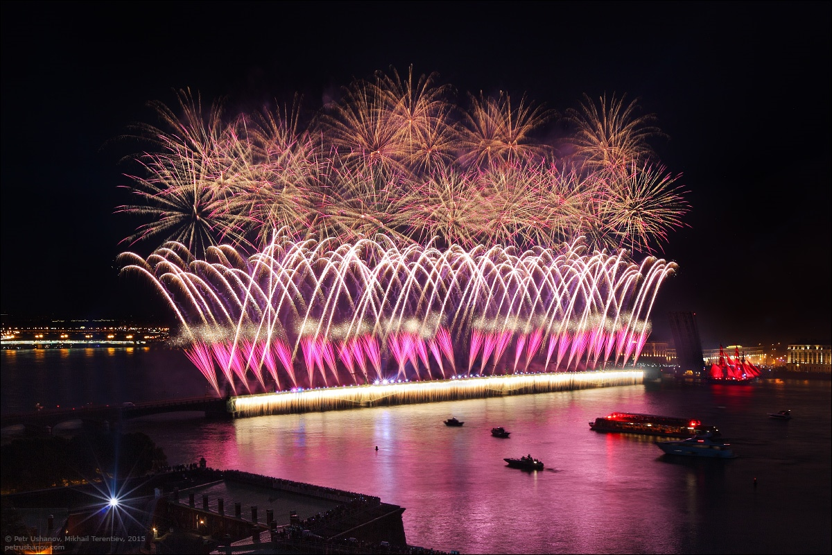 Scarlet Sails 2015: Bright fireworks show in Saint Petersburg - 14