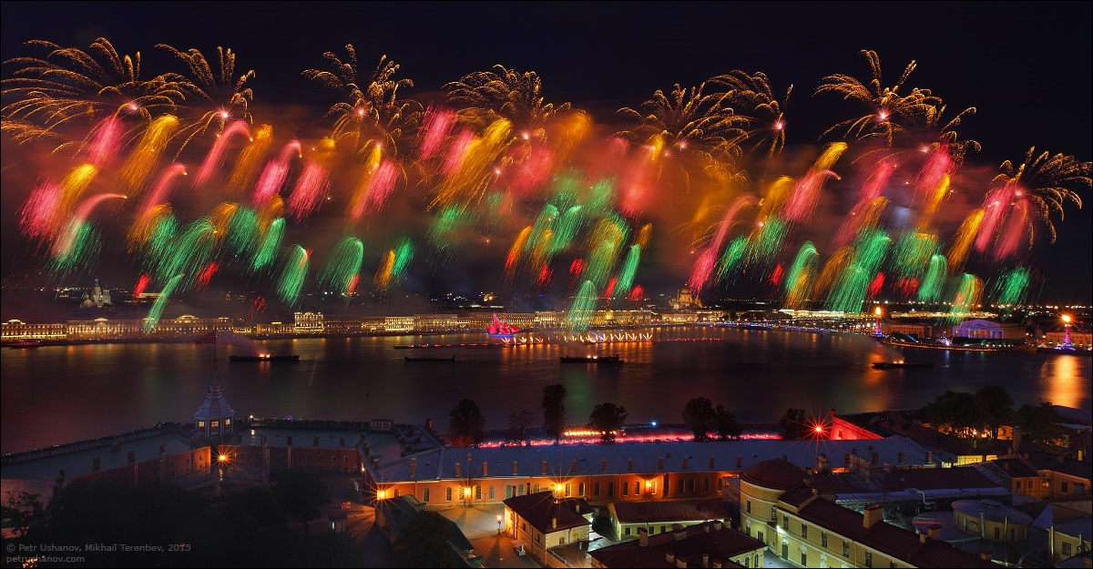Scarlet Sails 2015: Bright fireworks show in Saint Petersburg - 16