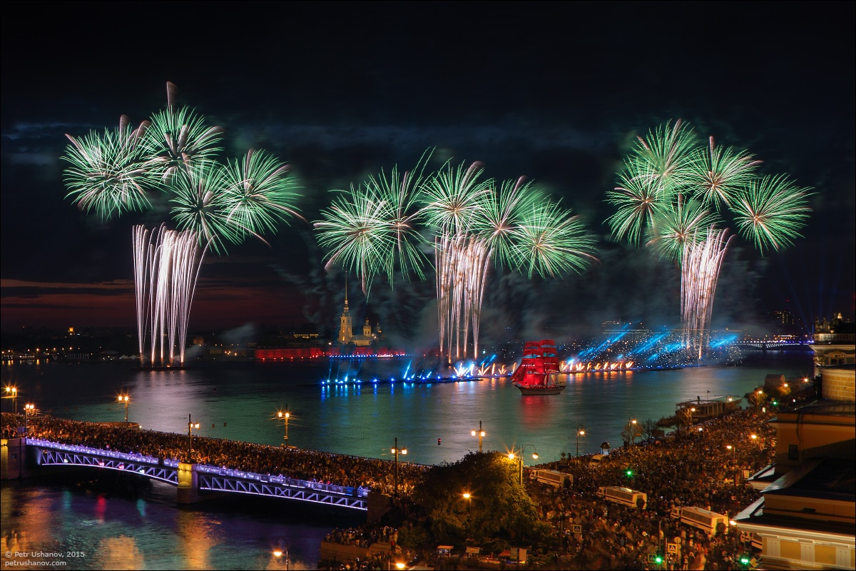 Scarlet Sails 2015: Bright fireworks show in Saint Petersburg - 19