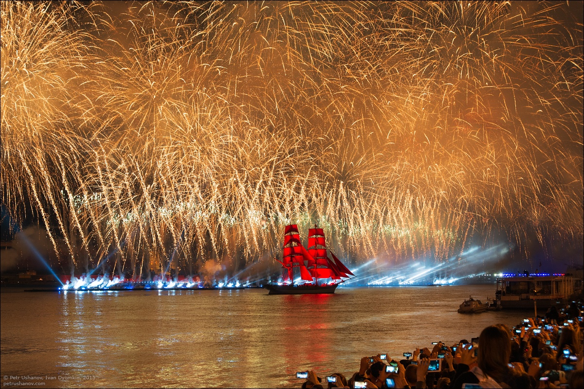 Scarlet Sails 2015: Bright fireworks show in Saint Petersburg - 22