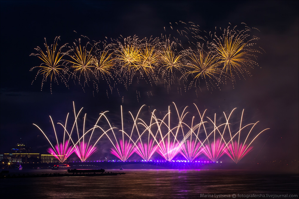 Scarlet Sails 2015: Bright fireworks show in Saint Petersburg - 27