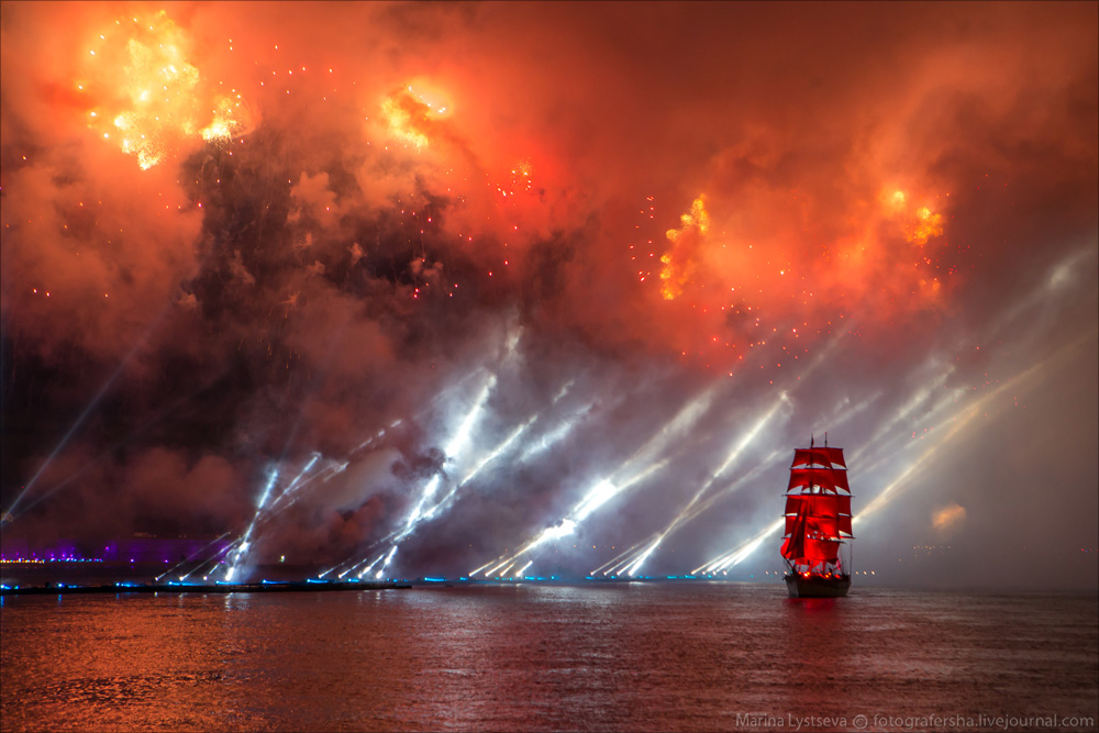 Scarlet Sails 2015: Bright fireworks show in Saint Petersburg - 31