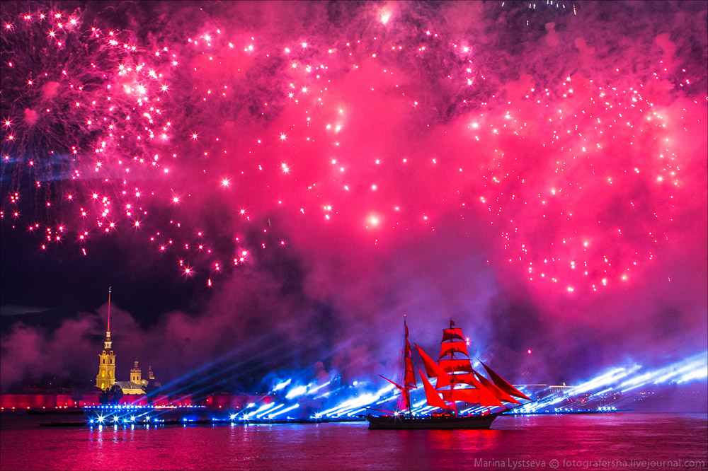 Scarlet Sails 2015: Bright fireworks show in Saint Petersburg - 36