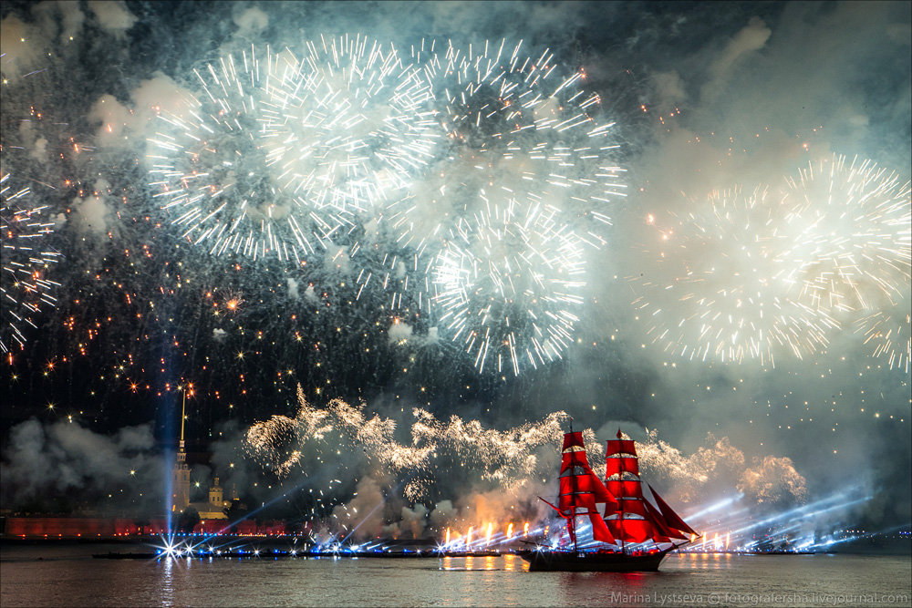 Scarlet Sails 2015: Bright fireworks show in Saint Petersburg - 37