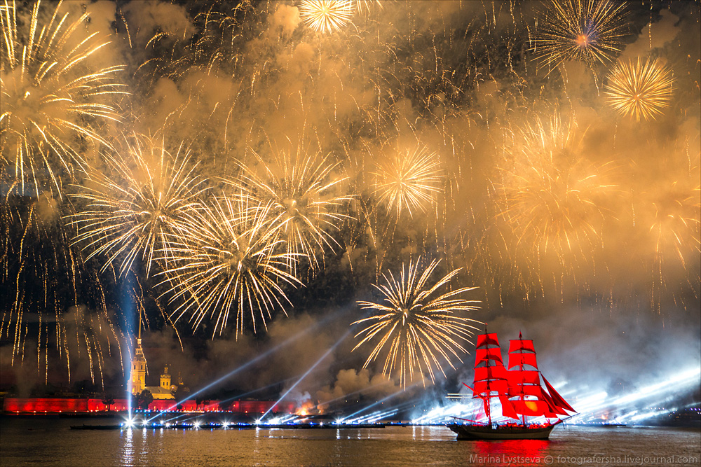 Scarlet Sails 2015: Bright fireworks show in Saint Petersburg - 38