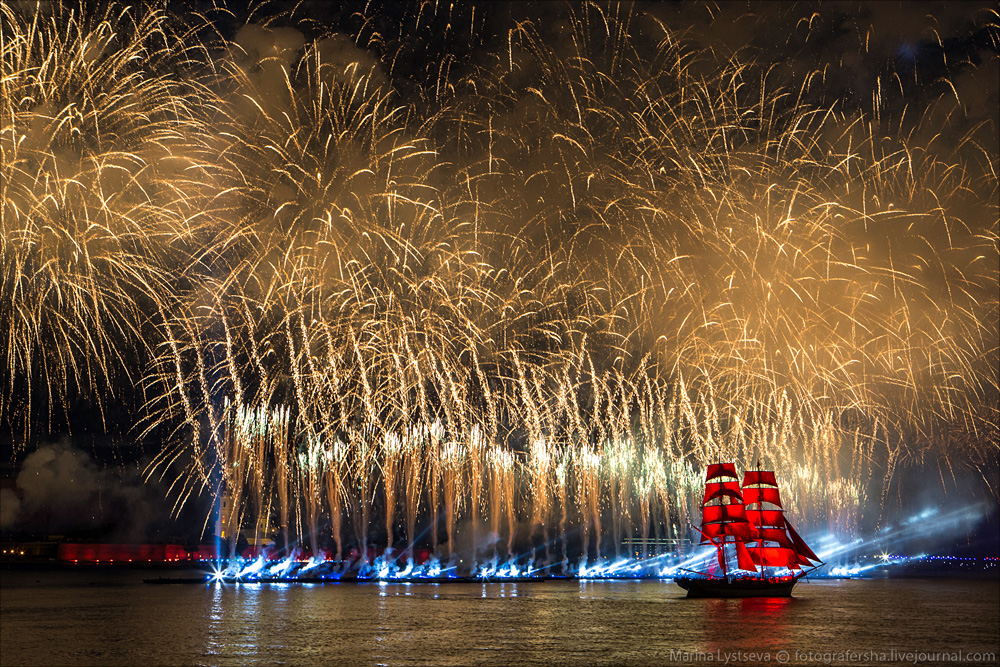 Scarlet Sails 2015: Bright fireworks show in Saint Petersburg - 39