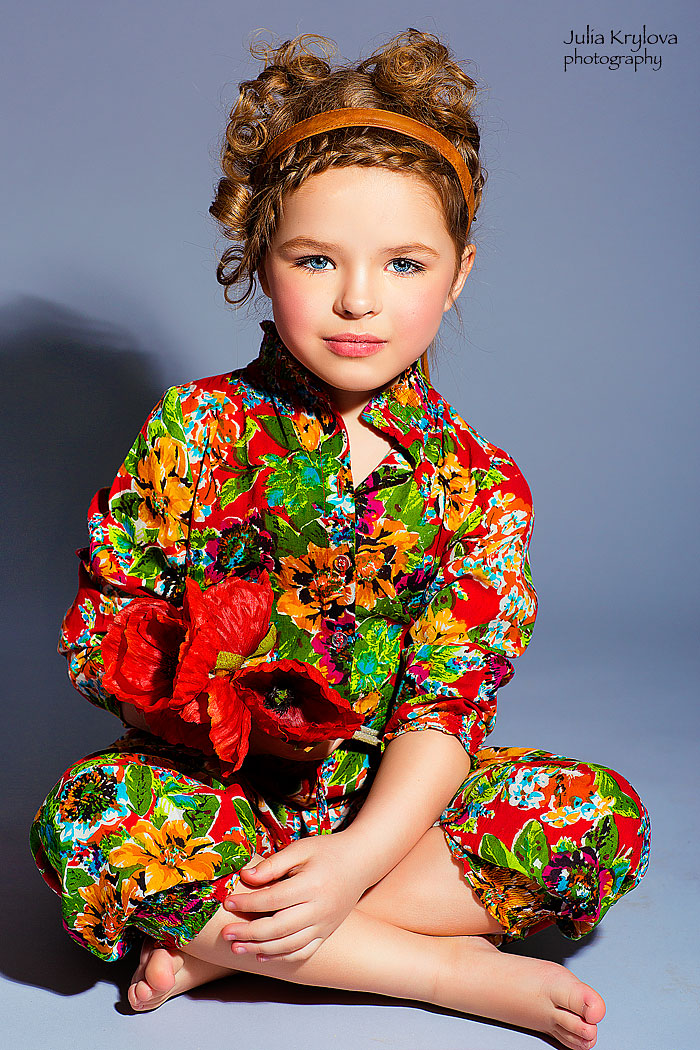 Adult childhood: Big modeling career of little Russian kids. Nellie Khudyakova - 1