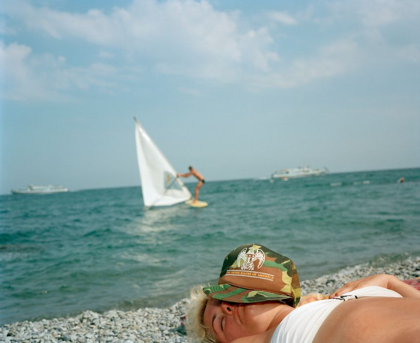 Ukraine 1990s: The city of Yalta on photos by Martin Parr - 41