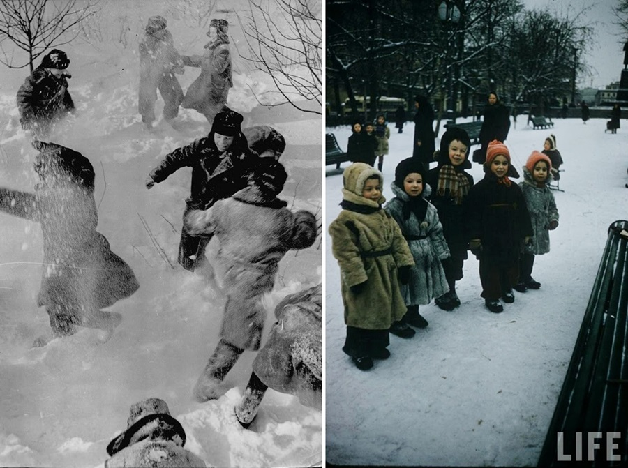 Vintage photos of the harsh winter in the era of Soviet Union - 21