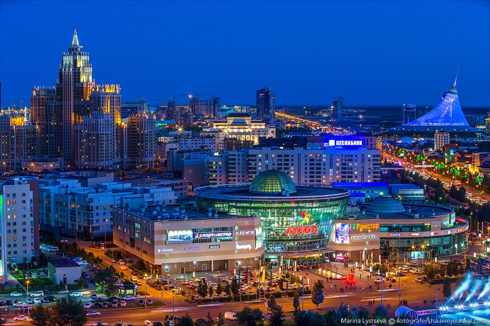 Night Astana: Urban landscapes of the capital of Kazakhstan - 20