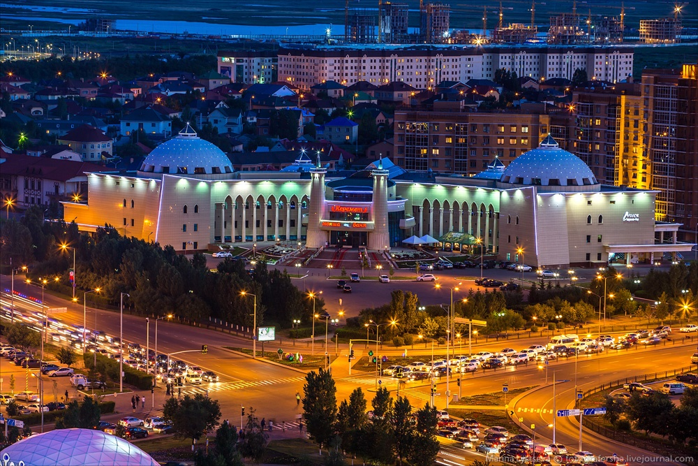 Night Astana: Urban landscapes of the capital of Kazakhstan - 22
