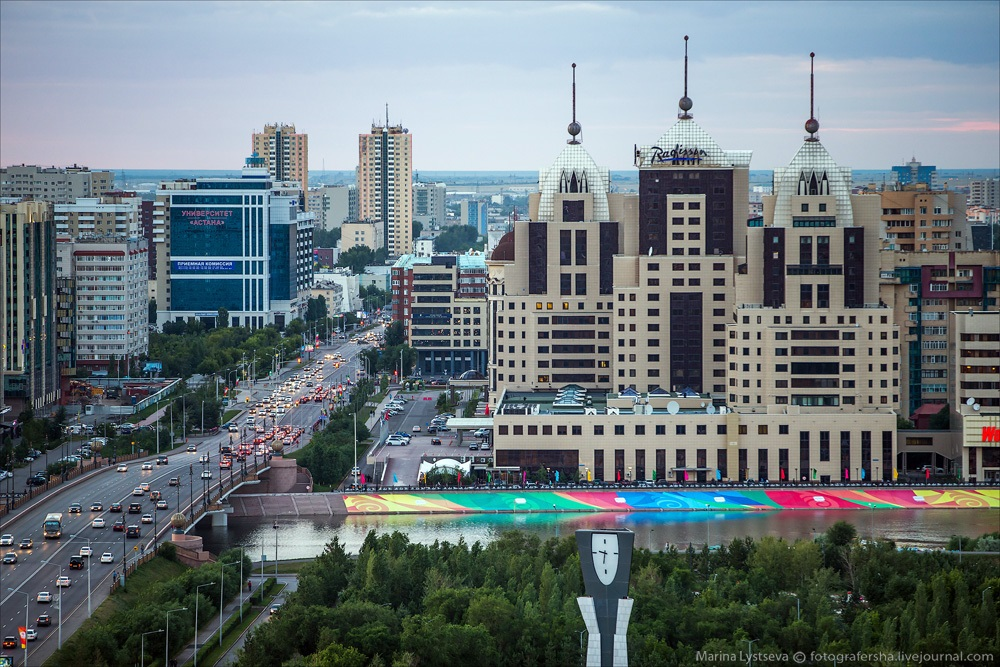 Night Astana: Urban landscapes of the capital of Kazakhstan - 23