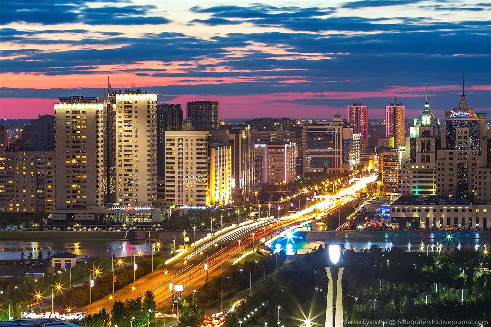 Night Astana: Urban landscapes of the capital of Kazakhstan - 24