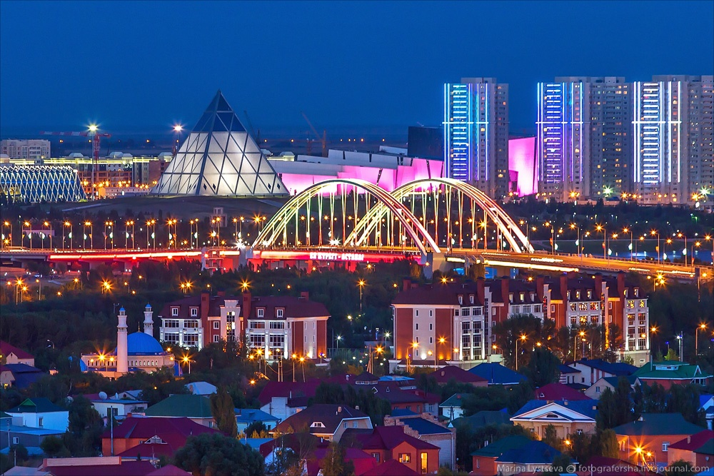 Night Astana: Urban landscapes of the capital of Kazakhstan - 26