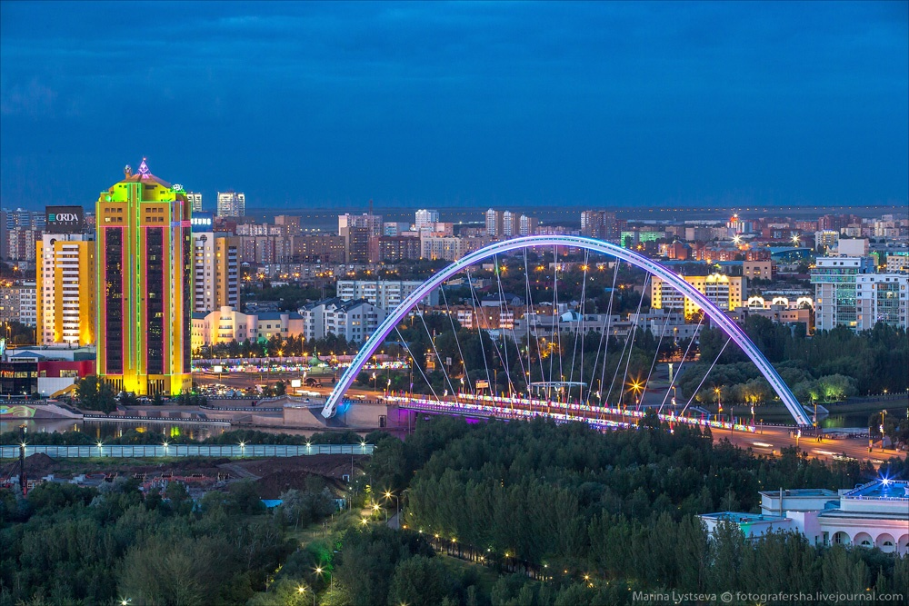 Night Astana: Urban landscapes of the capital of Kazakhstan - 27