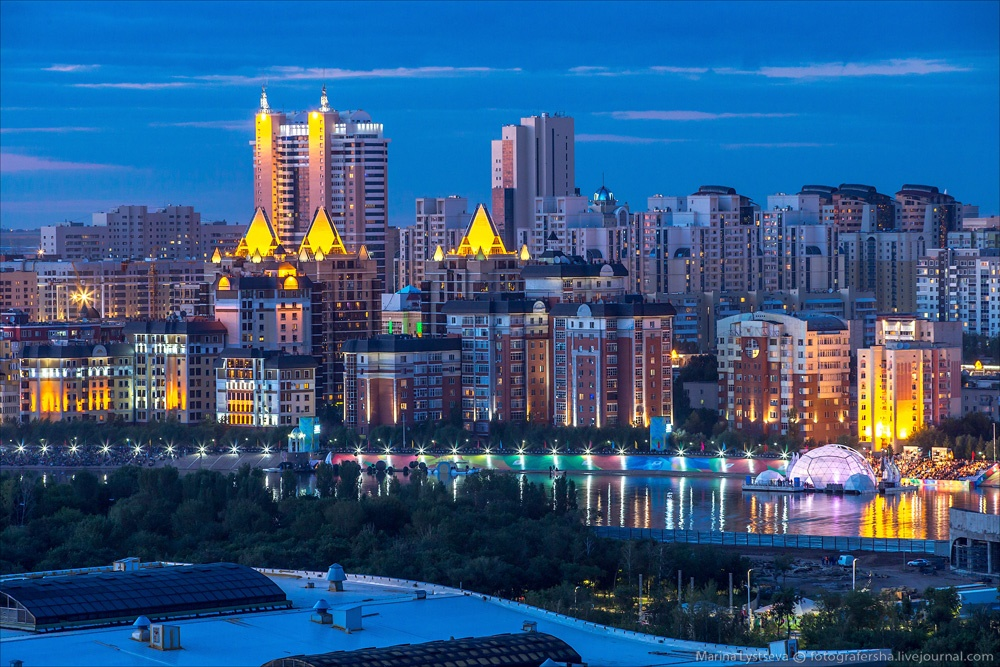 Night Astana: Urban landscapes of the capital of Kazakhstan - 28