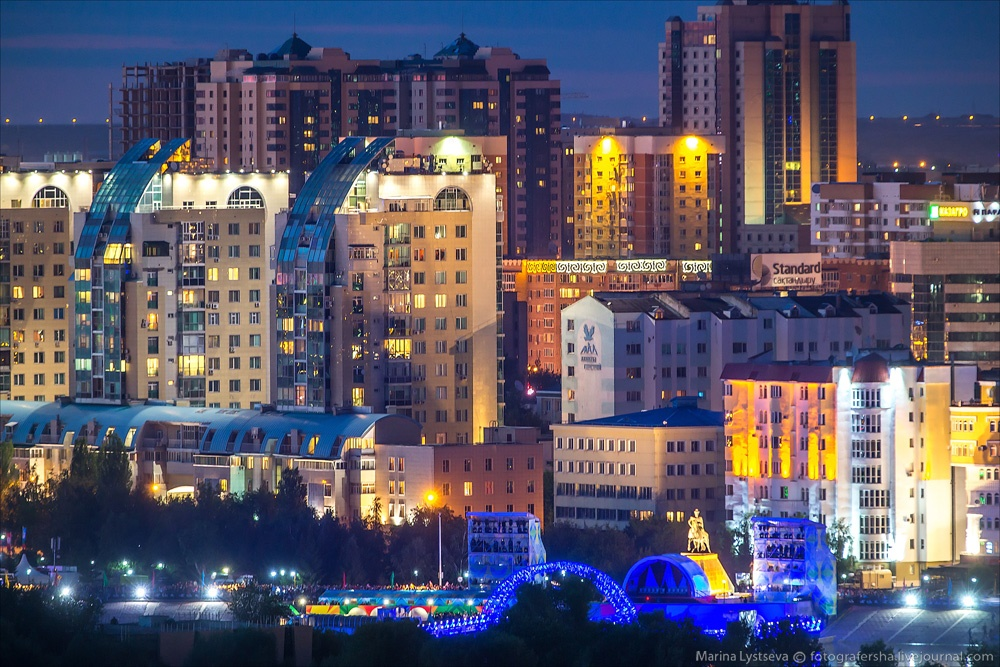 Night Astana: Urban landscapes of the capital of Kazakhstan - 29
